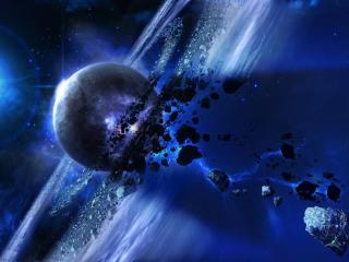 space, planets, asteroid wallpaper