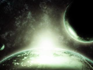 space, planets, stars wallpaper