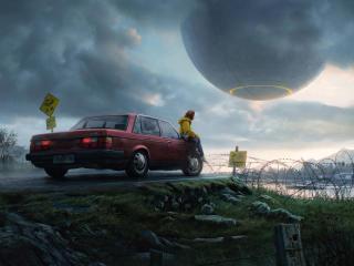 Spaceship Coming wallpaper