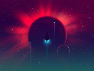 HD Wallpaper | Background Image Spaceship In Galaxy Art