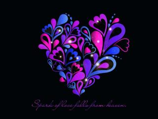 HD Wallpaper | Background Image Spark Of Love Follow From Heaven