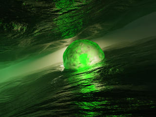 Sphere 3D Green wallpaper
