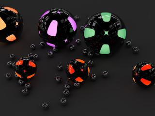 sphere, spheres, surface wallpaper