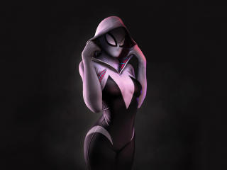 Spider Gwen Artwork 4k 2020 wallpaper