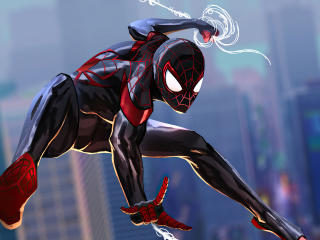 Spider-Man 2 Into The Spider-Verse Art wallpaper