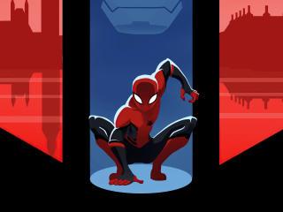 Spider-Man 4k Marvel Minimal Art wallpaper