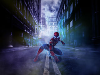 Spider Man Adventure In The Dark Streets wallpaper