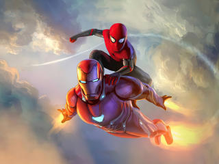Spider Man and Iron Man wallpaper