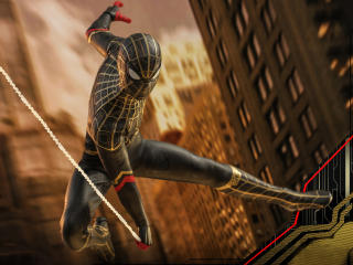 Spider Man Black and Gold Suit No Way Home Concept Art wallpaper