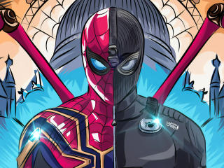 Spider Man Black and Red Suit Comic wallpaper