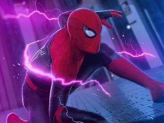 Spider-Man Electric Art wallpaper