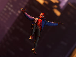 Spider-Man Flying Miles Morales wallpaper