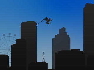Spider Man Flying Minimalist wallpaper