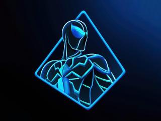 Spider Man Glowing Minimal Art wallpaper
