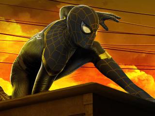 Spider-Man: No Way Home 4k Gold and Black wallpaper