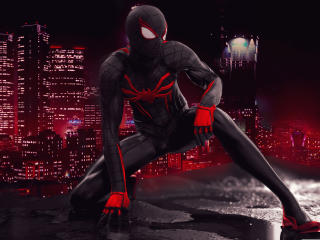 Spider Man Red And Black Suit Art wallpaper