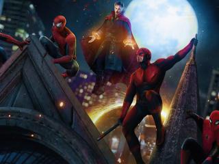 Spider-Man x Doctor Strange and Daredevil wallpaper
