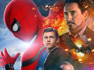 Spiderman Homecoming Iron Man wallpaper