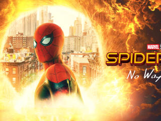 Spiderman No Way Home Cool Fan Art wallpaper
