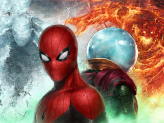 Spiderman Vs Mysterio In Marvel Future Fight wallpaper