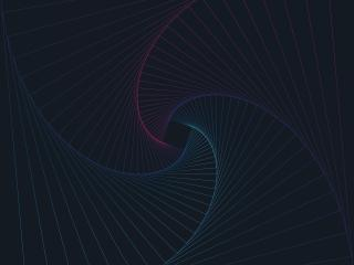 Spiral Line Neon Art wallpaper