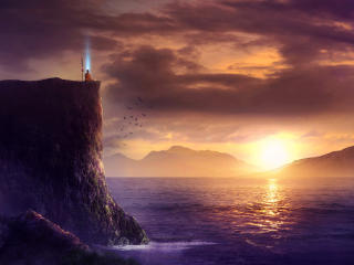 Spiritual Fantasy Art Sunrise wallpaper