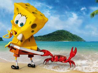 SpongeBob Crab Funny wallpaper