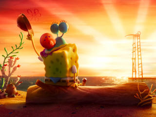 SpongeBob Near Sunset wallpaper