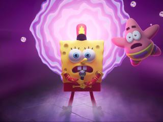 SpongeBob SquarePants: The Cosmic Shake 4k wallpaper