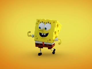 Spongebob With Red Tie wallpaper