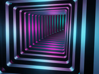 Square 3D Tunnel wallpaper