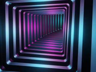 Square 3D Tunnel wallpaper