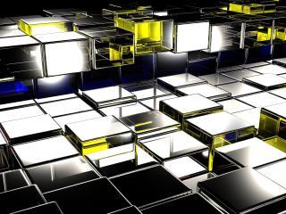 squares, surface, metal wallpaper
