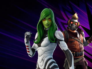 Star-Lord and Gamora Fortnite Chapter 2 wallpaper