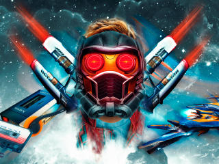 Star Lord Guardians Of The Galaxy Art wallpaper