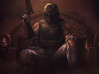 Star Wars Boba Fett Fan Poster wallpaper