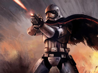 Star Wars Captain Phasma Digital Art wallpaper