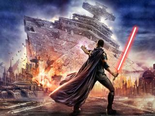 star wars, the force unleashed, lightsaber wallpaper