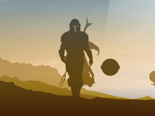 Star Wars The Mandalorian 4k Minimalist wallpaper
