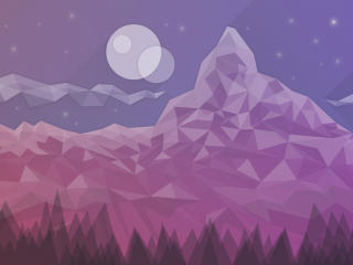 Starry Dusk wallpaper