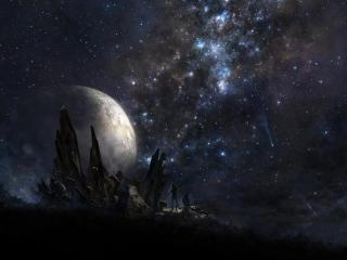 stars, people, planet wallpaper