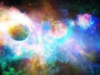 stars, planets, light wallpaper