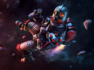 Steelhead Posing In Space Junkies Game wallpaper