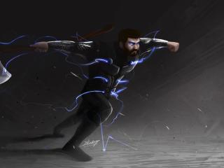 Stormbreaker Thor 4K wallpaper