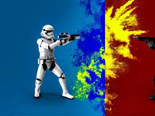 Stormtrooper Dark Trooper Battle wallpaper