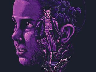 Stranger Things Eleven Fan Artwork wallpaper