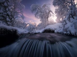 Stream Snow wallpaper