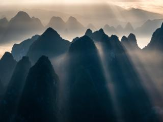 Sunbeam Mountains wallpaper