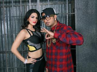 HD Wallpaper | Background Image Sunny Leone with Honey Singh wallpapers