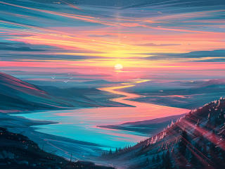 Sunrise Landscape wallpaper